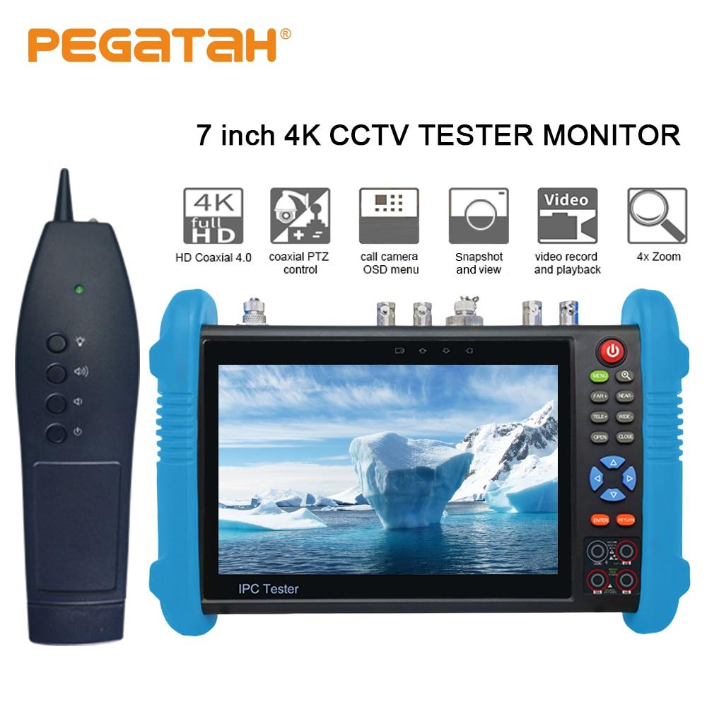 7 polegada H.265 4 K testador IP IP SDI CVI TVI AHD CCTV Camera suporte testador TDR potência Óptica HDMI câmera de segurança testador e tracer