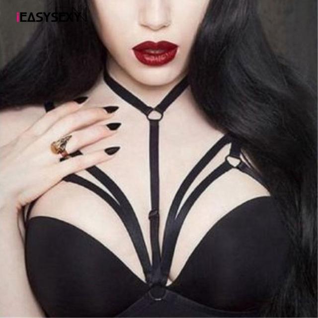 New Hot Sexy Goth Style Bra