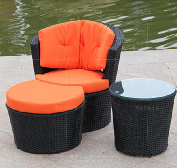 Vienna Courtyard Garden Table And Chairs Rattan Chair Three Piece  Combination Of Casual Outdoor Furniture