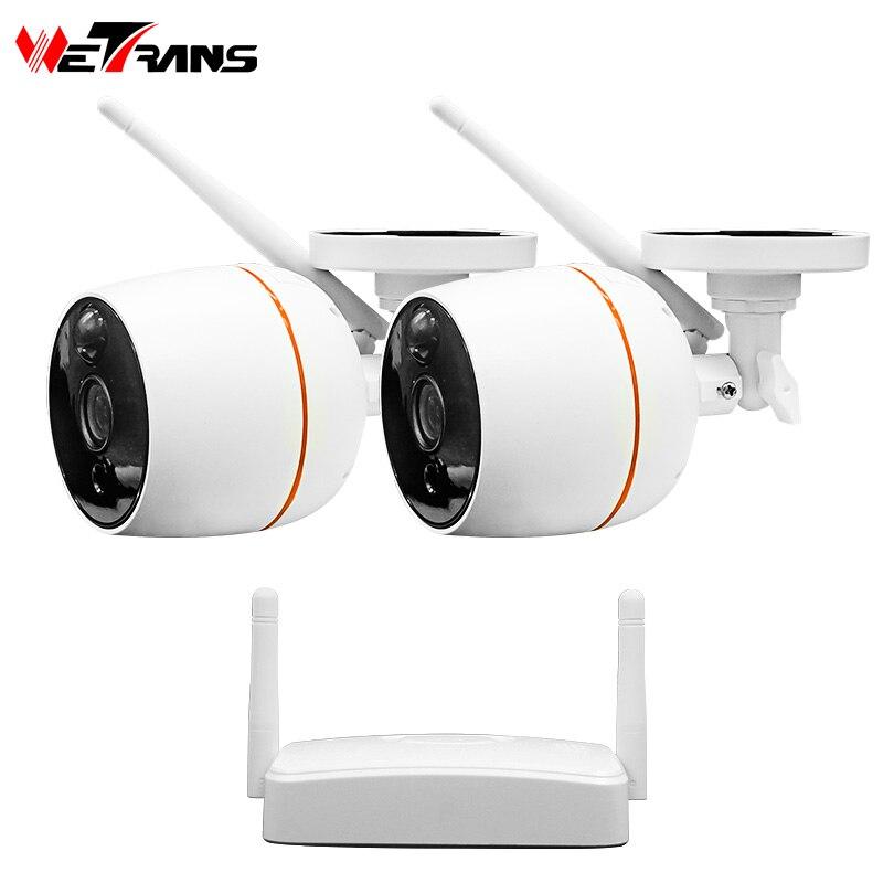 Wetrans Security Camera System CCTV 1080P Wireless Camera IP NVR Kit Wifi Surveillance PIR Audio font