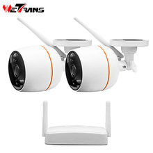 Wetrans Security Camera System CCTV 1080P Wireless Camera IP NVR Kit Wifi Surveillance PIR Audio Outdoor Waterproof Night Vision