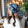 2016 Новое Прибытие 2 Используйте Cap Шарф Шляпы для Женщин Pacthwork Шапочки Женщины Хип-горячая Skullies Девушки Gorros женщины Шапочки Женские шляпы