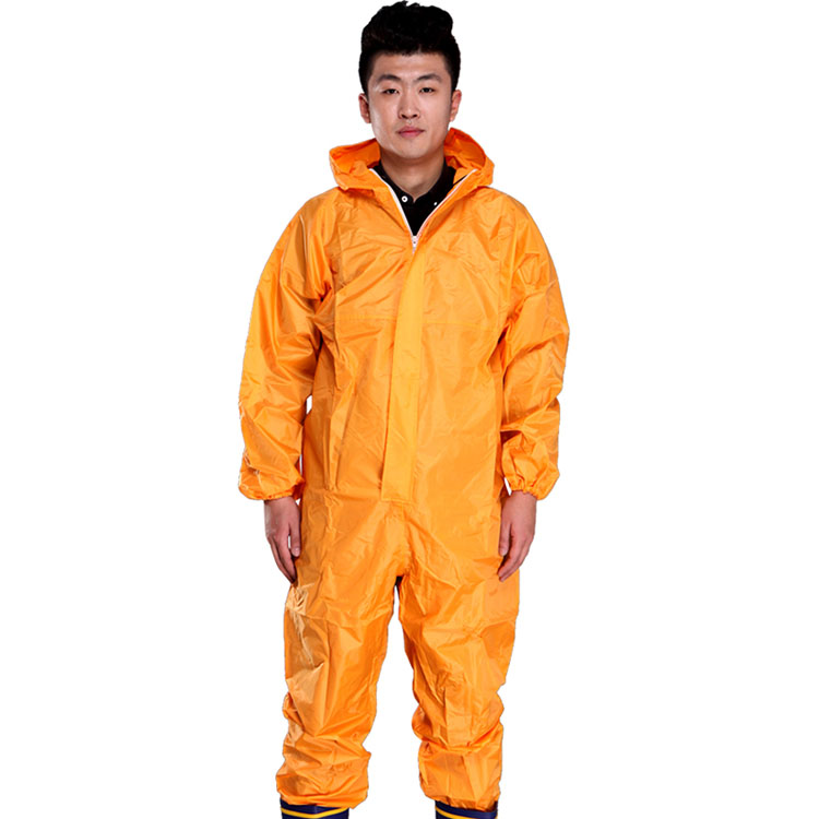 Men Waterproof Overalls Hooded Rain Coveralls Work Clothing Dust-proof Paint Spray Male Raincoat Workwear Safety Suits M-XXXL (12)