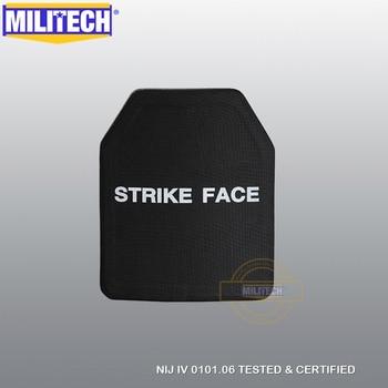 MILITECH Alumina & PE NIJ IV Bulletproof Plaat Al2o3 Stand Alone Ballistic Panel NIJ niveau 4 Body Armor Gratis Verzending