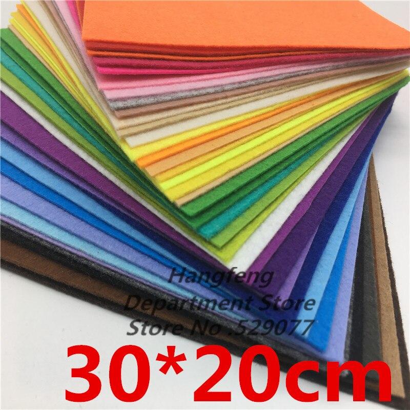 Фетр цветной из полиэстера (40 листов, 30x20 см, 1 мм)|Войлок| | АлиЭкспресс