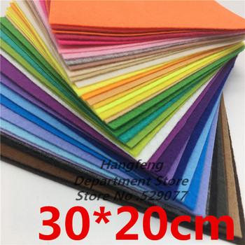 40 sztuk 30*20 mieszane kolory włóknina 1MM grubość czuł tkaniny poliestrowe filce dla lalki do własnoręcznego wykonania zabawki rzemiosła dekoracji wystawa tanie i dobre opinie SJMANDUN CN (pochodzenie) F-20-30 Diy Handwork Tak ( 50 sztuk) 20-49 Sztuk 40pcs 40 Colors About 1mm For Diy Decoration