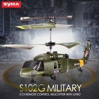 SYMA 3.5CH Mini Simulation Armée RC Hélicoptères Noir Faucon/Cobra/Apache/Garde Côtière S102G S108G S109G S111G RC Jouets pour Enfant