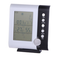 D1U 433MHz Weather Station Alarm Clock Wireless Digital Thermometer Hygrometer Free Shipping