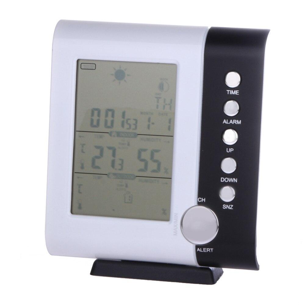 433MHz Weather Station Alarm Clock Wireless font b Digital b font font b Thermometer b font