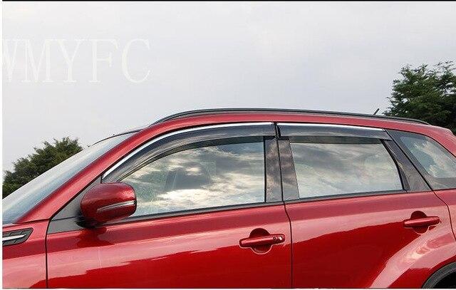 Fit For Suzuki Vitara 2015 2016 2017 Side Window Rain Deflector Guard Visor Weather Whields Door Shade Weathershield|Chromium Styling| |  - title=