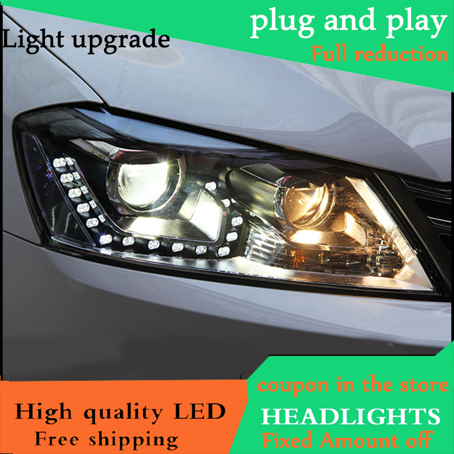 Car Styling Head Lamp case For VW Passat B7 2013 2015 Europe Version Headlights LED Headlight