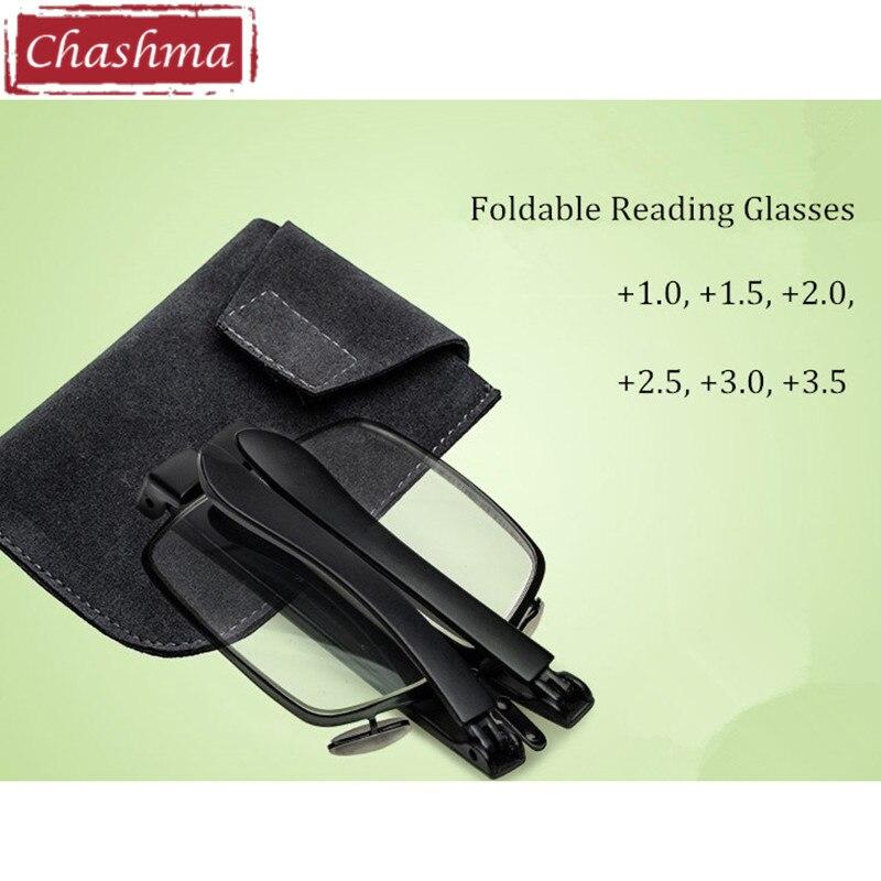 Chashma Projeto da Patente China Marca de Óculos Dobráveis óculos de Leitura  Óculos de Mulheres e Homens Mini Folding Óculos de Leitura com Caso ac9fa6694f