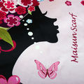 Maisun 100% silk pashmina shawl women designer scarves hijab autumn summer square scarf
