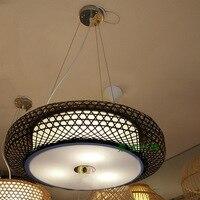 Chinese style living room bedroom restaurant bamboo lanterns southeast tatami antique tea Korean pendant light ZH ZS81
