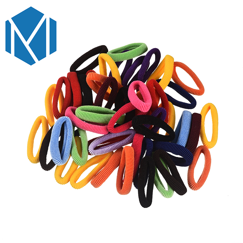 M MISM New 50pcs/lot Girl Candy Rainbow Color Rubber band High Elastic Hair Rope Ties Headband Gum Girl Hair accessories high quality 5pcs set summer girl print elastic hair band cute rubber band knot hair rope women hair accessories ponytail holder