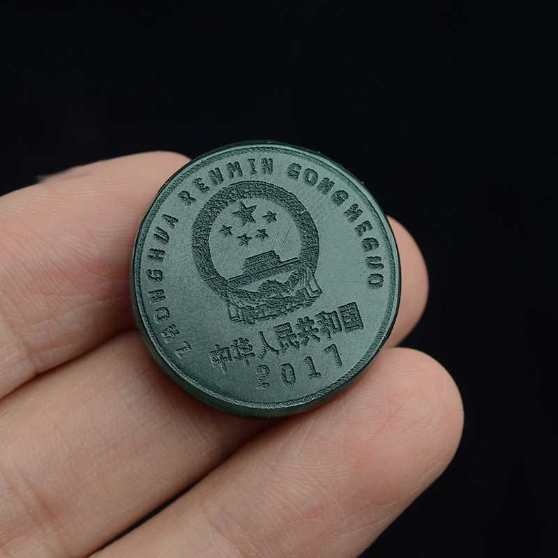 ของแท้และTian Yuเหรียญขนาดและคู่หยกของขวัญหยกกระบวนการYibenwanliหนึ่งหยวนเหรียญจี้