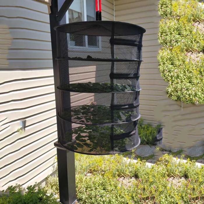 Cannabis Drying Rack New 60 Layers Collapsible Wire Mesh Hanging Net Black Drying Rack Clothes