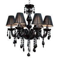 Американский Современные Простые E14 винтажные черные хрустальная люстра современного освещения 110 В 220 В домашнего освещения современная л