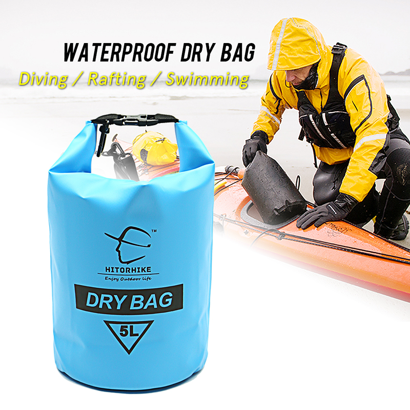 NEW   Dry Bag 5L Professional Waterproof Pouch Camping Boating Kayaking Rafting Canoeing Swimming Bags Backpack Stuff