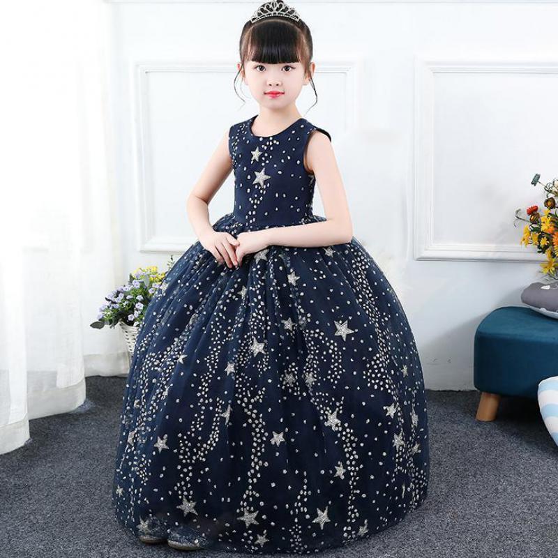 New 2018 Flower Girls Party Dress Baby Birthday Tutu Dresses For Girls Baptism Dresses Kids Wedding Dress Roupas Infantis Menina kids party dresses for girls 2018 new
