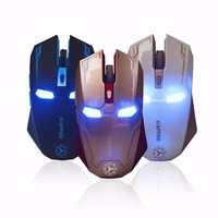 Iron Man Ergonomic Gaming Mice For Computer Laptop Mouse 1000 1200 1600 2400 DPI Wireless Mouse