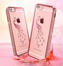 Rhinestone Case For iPhone 7 8 Plus Glitter Patterned Luxury Diamond TPU Cover X 6 6S 5 5S SE Phone