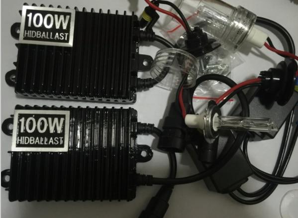 100W HID xenon kit H1 H3 H4 H7 H8 H9 H10 H11 9005 9006 D2S 880 hid xenon kit high power high quality fast start цены