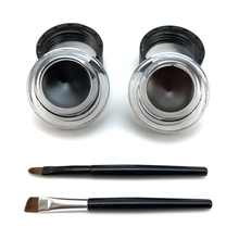 2 in 1 brown + black gel eyeliner make up free shipping waterproof freeshipping