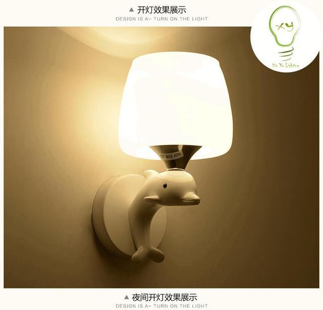Modern Creative Mushroom/Dolphin Bedside Lamp Wall Lamp Wall Sconces  Lighting Home Interior Lighting Lamps