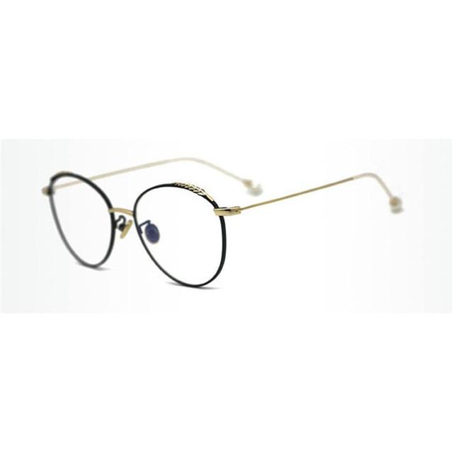 a9167184c5 NEW Super Lighter Round T Glasses frame Optical Metal Eyeglasses For Men  Women Computer Lens Myopia