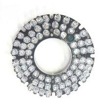 72 шт. ИК светодиодный Щит 5 мм ИК Инфракрасная подсветка 80 градусов лампы доска 850nm CCTV камеры домашней безопасности