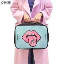 QEHIIE Fashion Cartoon Cosmetic Bag Large Capacity Portable Toilet Bathroom Storage Organizer Waterproof Bag Accessories