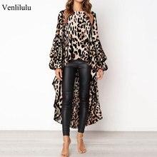 hot deal buy 2019 spring leopard dress women ruffles dress ladies sexy long sleeve party dress women casual print leopard dresses female