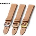 Chimaera 18mm 19mm 20mm 22mm correa marrón francia becerro venda de reloj de cuero correa con hebilla para omega tissot tudor