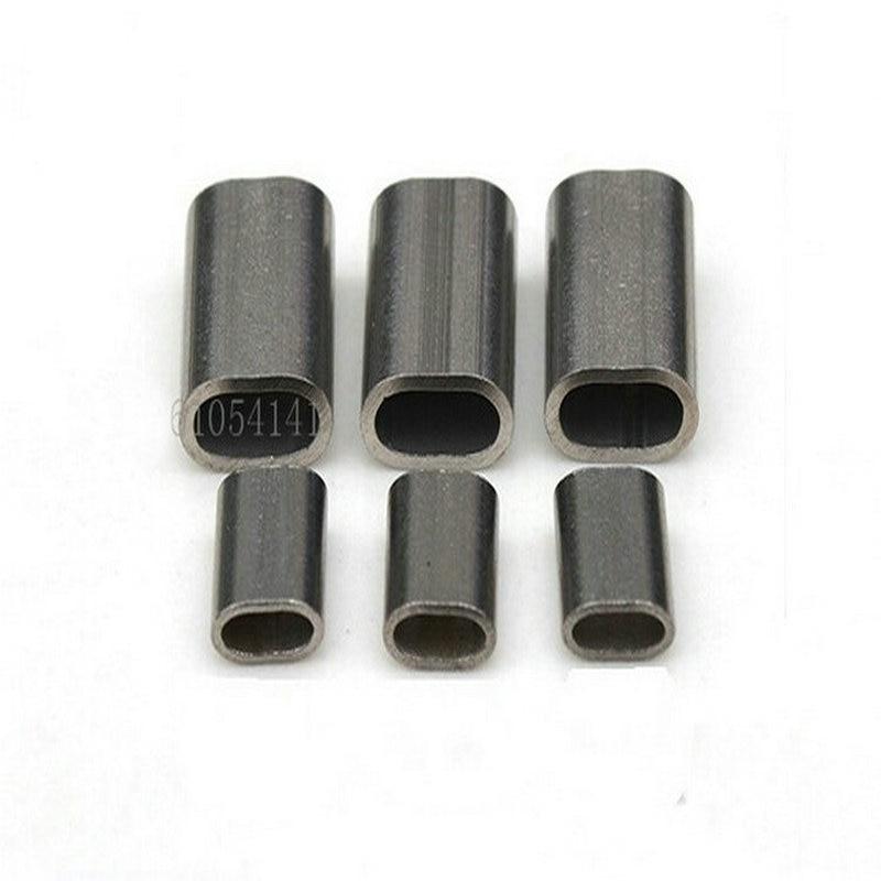 Овальный Тип Проволока из нержавеющей стали трос обойма рукава Провода Rope Clip 100 шт./2.0 мм(для 1.5-2.0 мм провода веревки