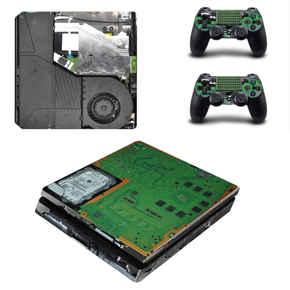 PS4 Slim Full Body Skin Sticker Decal For Playstation 4 PS4 Slim  Console+Controllers Circuit diagram-in Stickers from Consumer Electronics  on Aliexpress.com ...