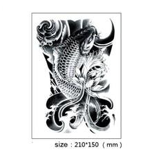 10PCS Sexy Fish Beauty Makeup Body Art Tatoo 3D Waterproof Temporary Tattoos Exotic Fake Tattoo Stickers For Men