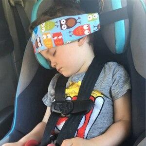 Image 1 - חדש ילד רכב בטיחות מושב ראש תיקון עזר כותנה חגורת Pram מאובטח רצועת נמנם להקת עבור תינוק Pram ילד בטיחות מושב