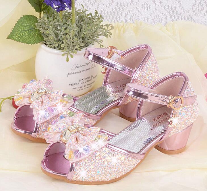 새 여름 여자 공주 샌들 어린이 신발 키즈 소녀 - 어린 이용 신발