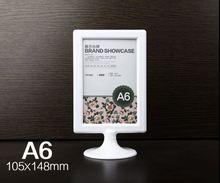 20 piezas A6 nombre beber lista tarjeta signo cartel titular de plástico Etiqueta de pantalla menú POP precio Escritorio de cuadro tablet
