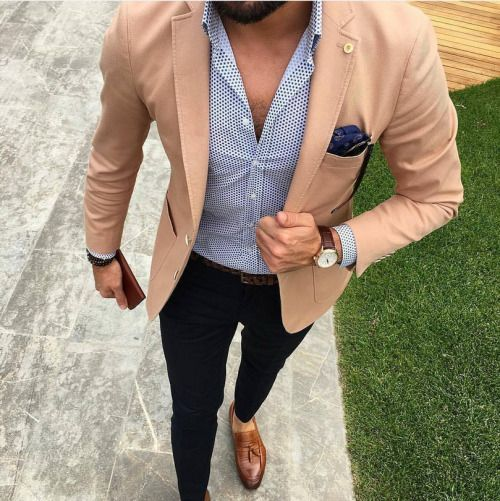 2017 Latest Coat Pant Designs Tan khaki Men Suit Casual Blazer Custom 2 Piece Skinny Tuxedo Jacket Style Suits Terno Masculino ...