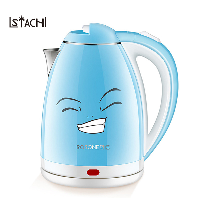 LSTACHi 2L Stainless Steel Electric Water Anti Scald Heat Preservation Stainless Steel Electric Kettle Household ApplianceLSTACHi 2L Stainless Steel Electric Water Anti Scald Heat Preservation Stainless Steel Electric Kettle Household Appliance