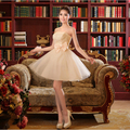 sweet 16 strapless champagne tule lace cocktail dresses short teen formal gown girls dress ball gowns free shipping S2994