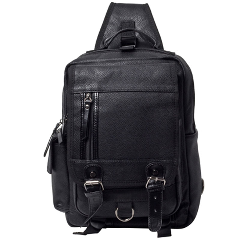 Men PU Leather Travel Riding Cross Body Messenger Shoulder Sling Back Pack Chest Bag Computer Laptop Handbag Bag Travel Bags high quality canvas men messenger shoulder cross body bag laptop book tablet pc riding military travel sling chest back pack