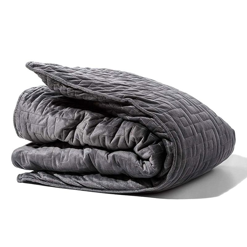 100 Cotton Weighted Blanket Gravity Duvet Blanket Sleep Aid Pressure Comforter Sleep Quilt