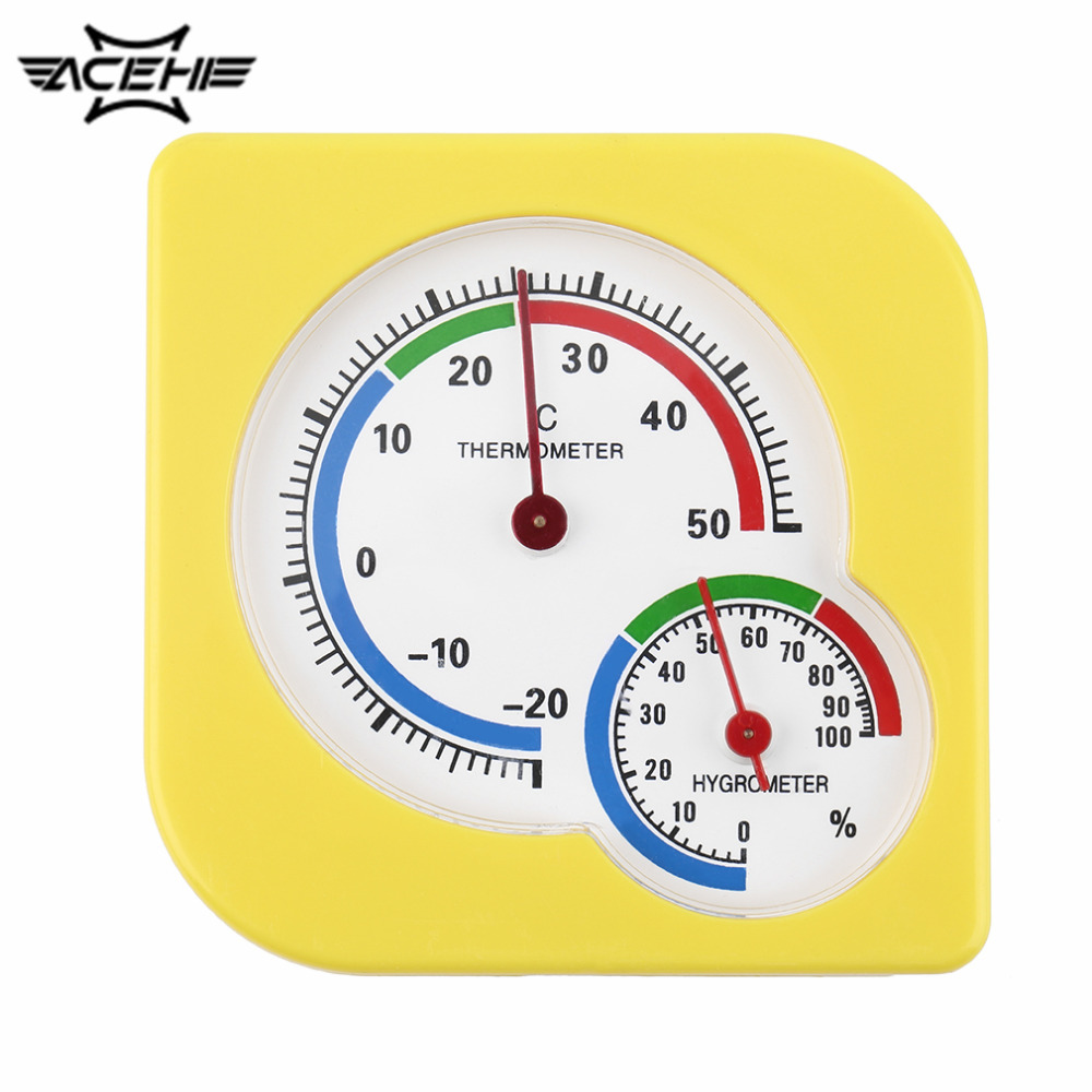 Indoor Outdoor Wet Hygrometer Humidity Thermometer Temp Temperature Meter Yellow Mechanical Thermometer