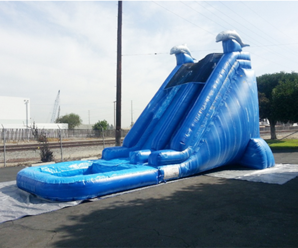 Inflatable Water Slide With The Pool Game For Kids  PVC Commercial Inflatable Slide For Sale