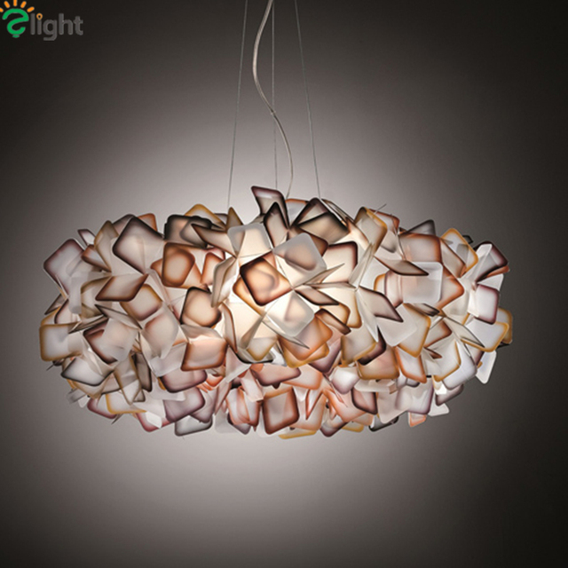 Aliexpress.com : Buy Modern Lustre Acrylic Flower Led Chandeliers ...