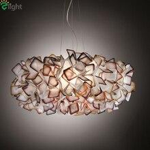Modern Lustre Acrylic Flower Led Chandeliers Lighting Dining Room Led Pendant Chandelier Lights Bedroom Hanging Light Fixtures