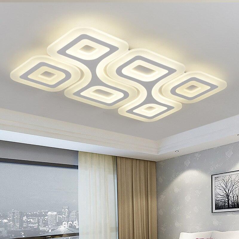 Slim Acrylic Art LED Ceiling Light Living Room Bedroom Study Room Restaurant Lighting Commercial Lighting Ceiling lamp 110-240V